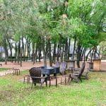 Firepit Gathering Oaks Retreat