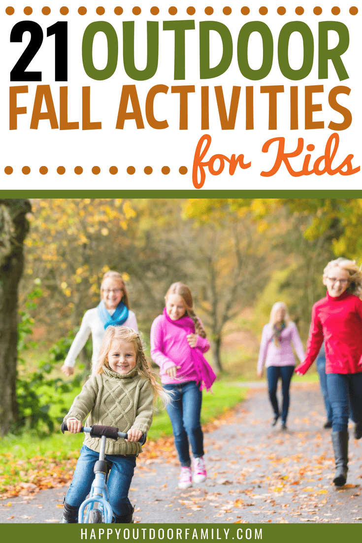 21 Outdoor Fall Activities for Kids Free Printable #fallfamilyfun #fallbucketlist #freeprintable #fallactivities #fallkidsactivities