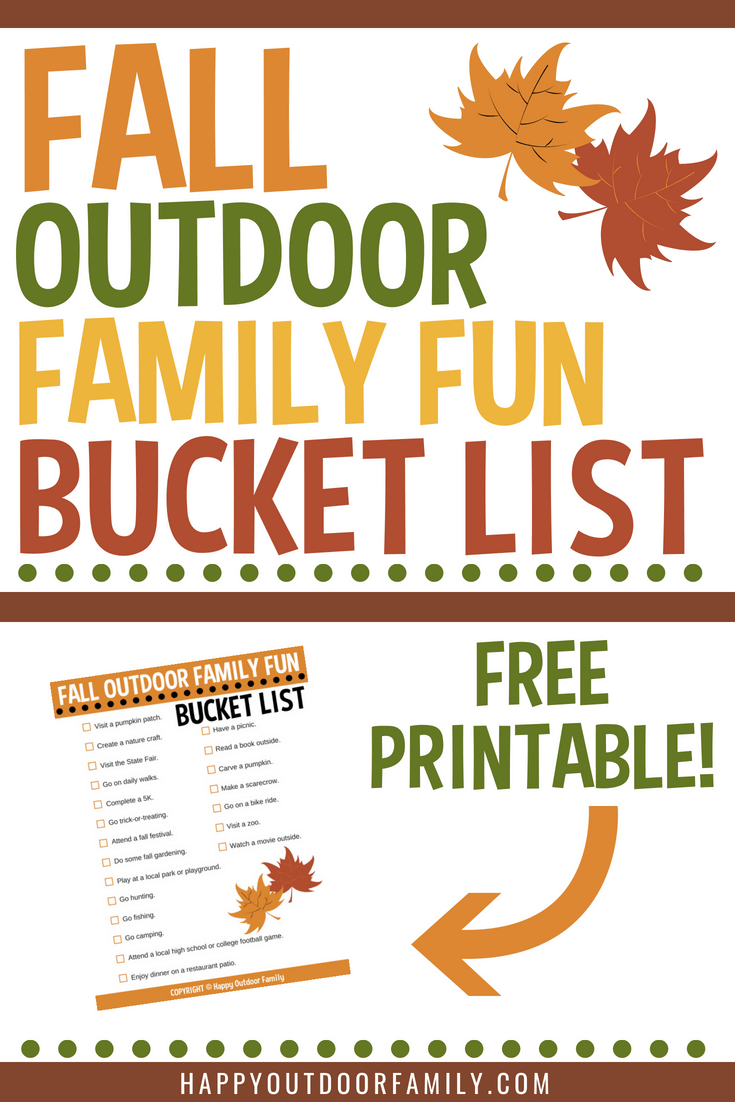 21 Outdoor Fall Activities for Kids - Fall Outdoor Family Fun Bucket List Free Printable #fallfamilyfun #fallbucketlist #fallactivities #freeprintable #fallkidsactivities